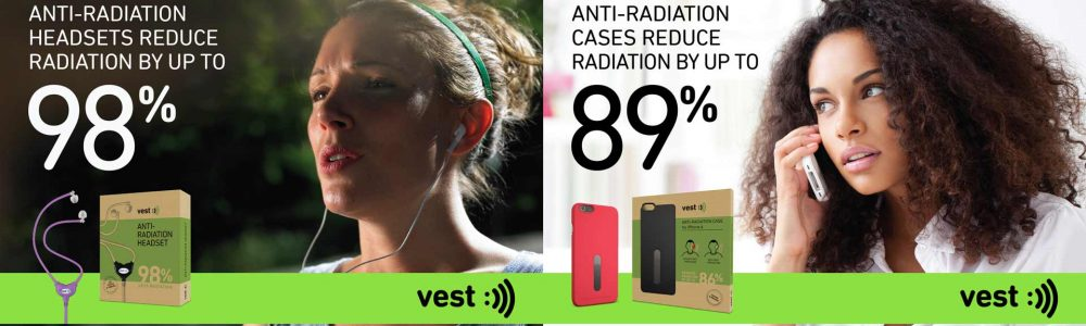 Vest Anti Radiation Headsets & Cases reduce Radiation Exposure up to 89% and 98% respectively