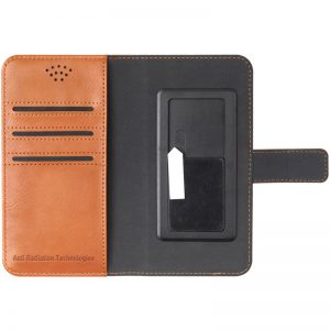 Vest Radiation Wallet Case - Universal Brown Inside