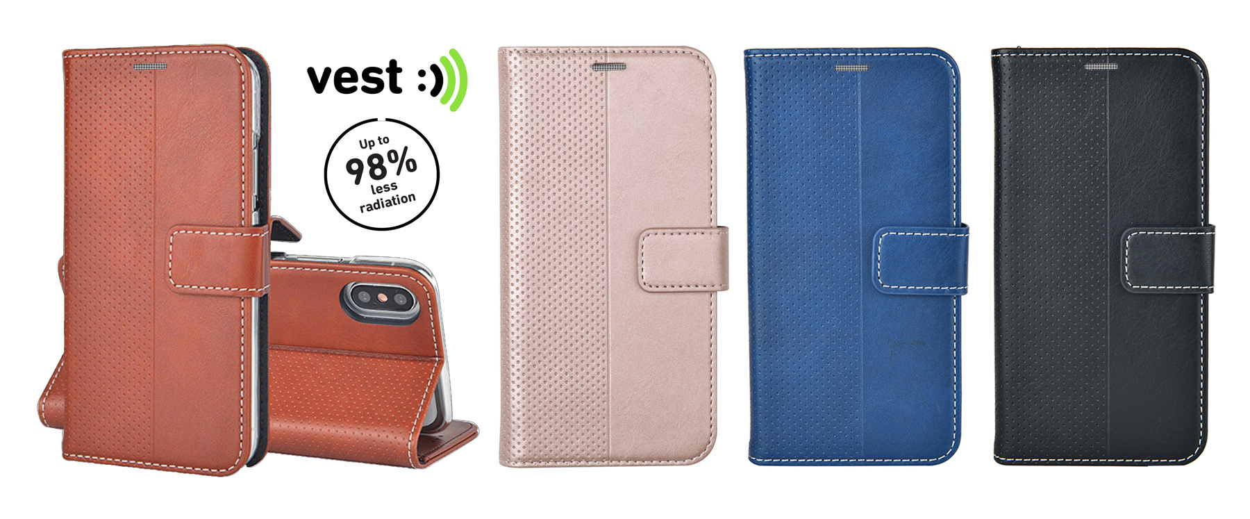 VestTech Anti Radiation Wallet Covers Colours